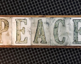 Recycled Soda Pop Can Name Letters Upcycled Personalized Wall Art