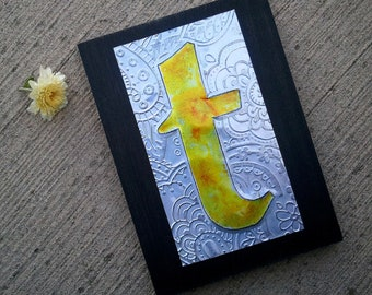 Upcycled Pop Can Metal Alphabet Letter Wall Art