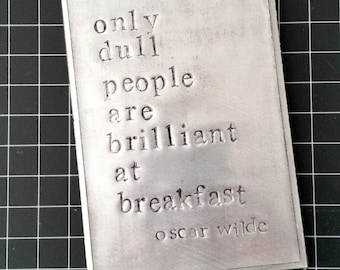 Oversized Recycled Quote Magnet Embossed Hand Stamped