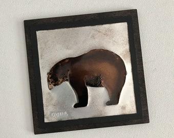 Upcycled Soda Pop Can Bear Art Tile