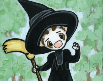Wizard of Oz Witch Ferret Art Print - by Shelly Mundel