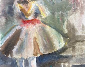 Ballerina, Ballerina Art, Ballerina Watercolor Painting, Ballerina Painting, Dance Painting, Dance, Female Ballet, Ballet, Dancing Girl