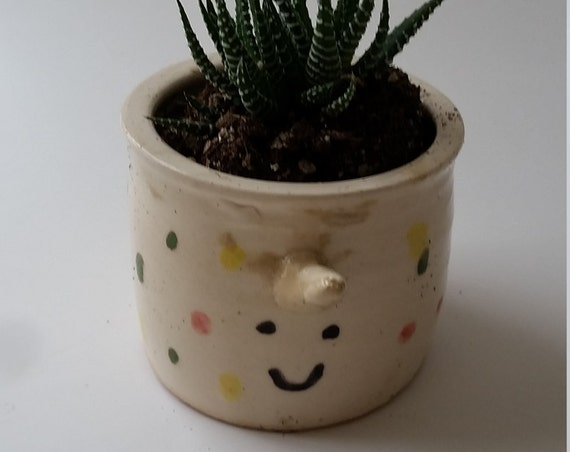 Pottery  plant pot, animal sculpture whale  for airplants or succulents great  gift