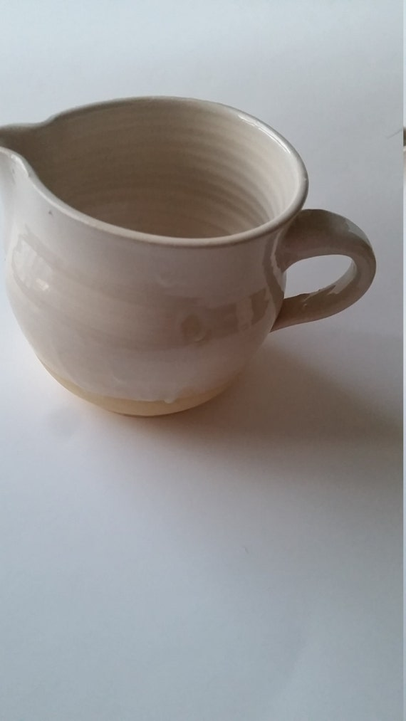 Pottery Batter Bowl in White  perfect for  gravy serving or prep holds 3 cups