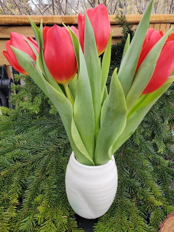 Pottery Vase white modern  vase home decor