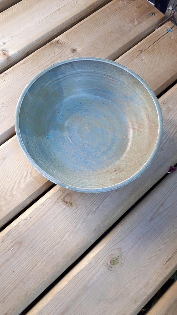 Pre order your pottery Salad Bowl Blue Grey Agate holds four cups mothers day gift