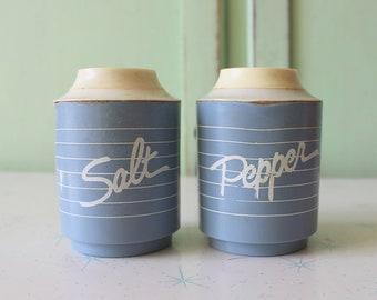 retro housewares Vintage ATOMIC Salt and Pepper Shakers...s and p housewarming kitschy wooden serving retro kitchen unisex. eat