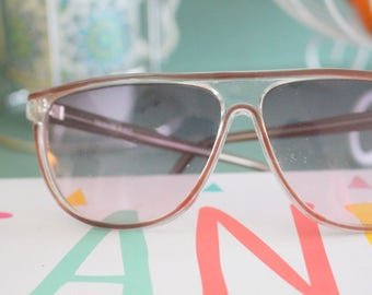 0150a9b96a0 Vintage TAIWAN Clear Sunglasses.retro. colorful shades. urban. hipster.  gold. shades. indie. chic. cream. sunglasses. boho. deadstock.
