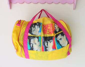 1990s NEW KIDS on the BLOCK Duffel Bag....nkotb. girls night. retro. kids.  children. teens. pop music. band. travel. kids rooms. 90s music 124340fc6d3d1