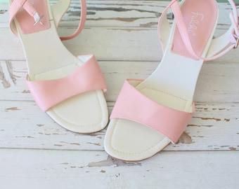 3e0228de6d93f Vintage PINK Mod Wedges...size 8 womens...satin. wedges. shoes. pumps. pink  flats. cinderella. princess. wedding. party heels. gogo. retro