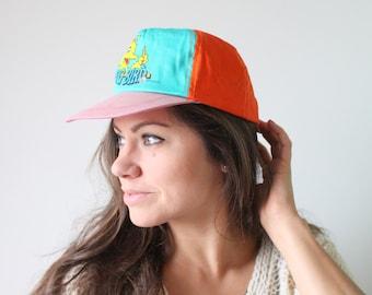7289d7a4953 1980s Vintage SESAME STREET Big Bird Unisex Hat....children. toddler. cookie  monster. summer. girl. unisex kids. bert. ernie. jim henson