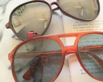 61da3f2140 1980s Vintage SUNGLASSES SET....instant collection. round lens. retro. set  of 2. vintage sunglasses. shades. aviators. wayfarers. clubmaster