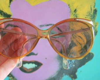 ffe6475147b 1970s CHRISTIAN DIOR Sunglasses..twiggy. designer. big lens. funky.  woodstock. hippie. rare. ladies. deadstock sunglasses. butterfly. mod