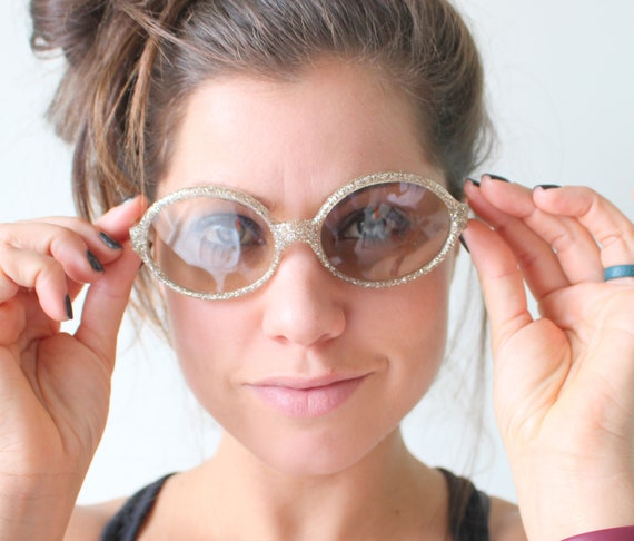 1950s 1960s GLITTER France Sunglasses..vintage eye