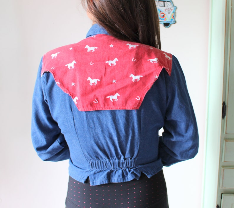 552e53d2e Vintage WESTERN Button Down..medium. country western. blue   Etsy