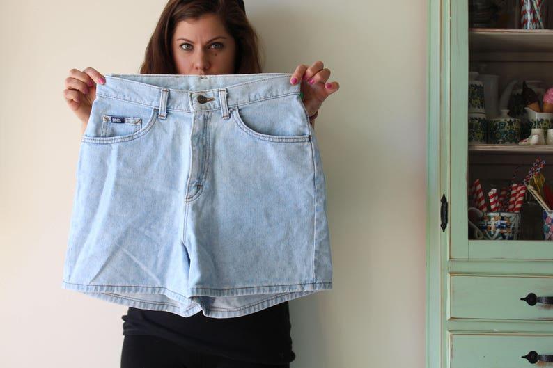 mc hammer designer womens Vintage ACID WASH Shorts..grunge size 30 80s rad hipster 90s blue jean acid wash hippie designer jeans