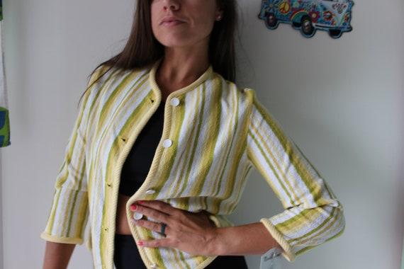 1970s DISCO Mod Crop Top...yellow. koret. usa. ol… - image 4