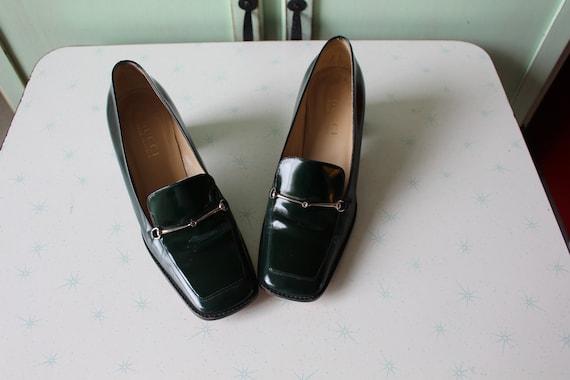 90s Vintage GUCCI Designer Loafer Heels..size 7 w… - image 3