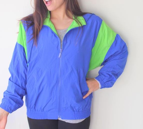 1980s RAD Jacket...size medium. colorful. bright.