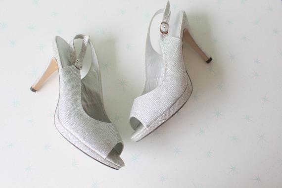 1990s Vintage CINDERELLA Heels..size 9 womens..fan