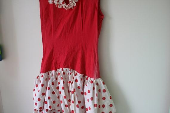 1960s RED POLKA DOTS Dress..mod. red. polka dots.… - image 5