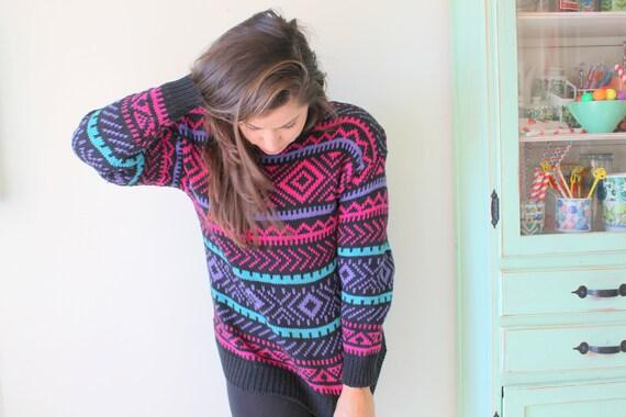 striped bright crop sweater fun bright rainbow retro 1960s RAINBOW Sweater...unicorn colorful rad knit sweater 1960s sweater