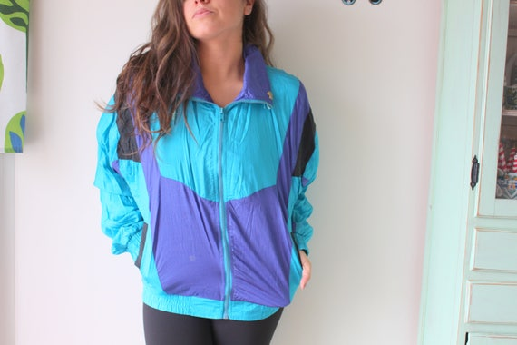 1980s HIPSTER Jacket....unisex. colorful. bright.