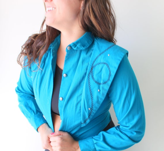 1970s BANJO Blue Jacket......western. blue jacket.
