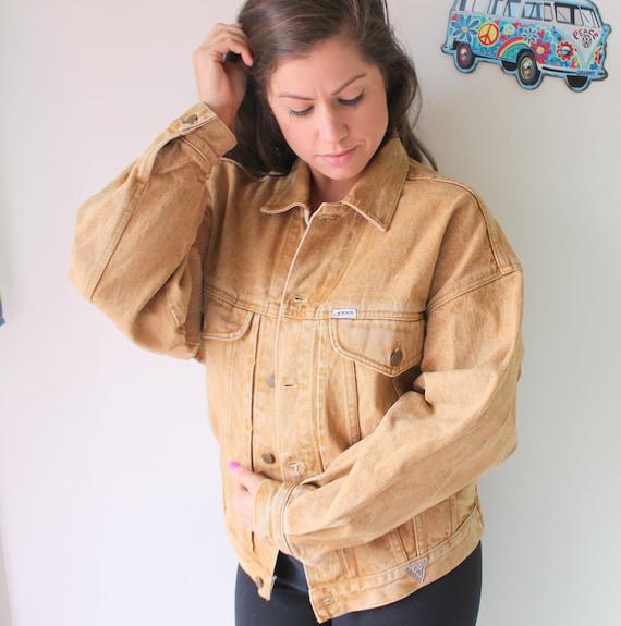 Vintage GUESS JEANS Jacket.....designer. small. un