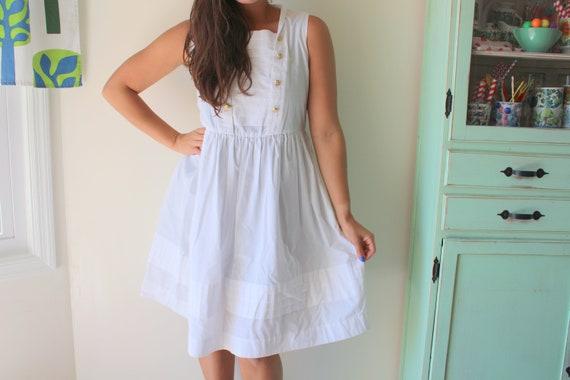 Vintage SAILOR Dress....mod. collared dress. sundr