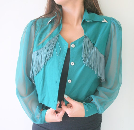 Vintage FRINGE Designer Jacket...size medium large