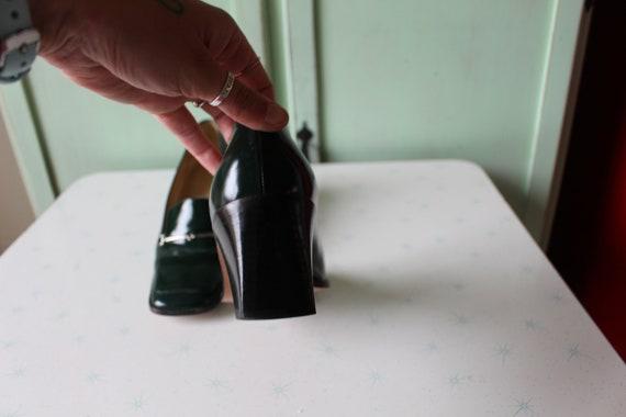 90s Vintage GUCCI Designer Loafer Heels..size 7 w… - image 9