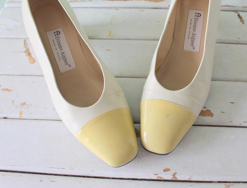 16fbb57d49 Vintage ETIENNE AIGNER Leather Heels..size 8 womens..designer