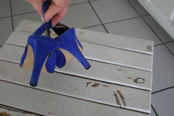 Vintage DESIGNER SUEDE Heels.size 8.5. suede. sho… - image 3
