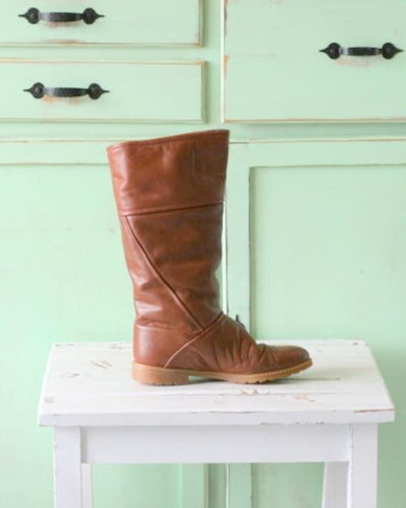 Vintage MOD GIRL Designer Boots.size 6.5 womens..l