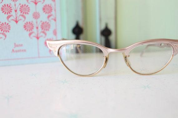 classic 1950s 1960s Vintage CAT EYE Eye Glasses..vintage eyewear 1960s accessories gems twiggy fancy 1950s designer vintage cat eye