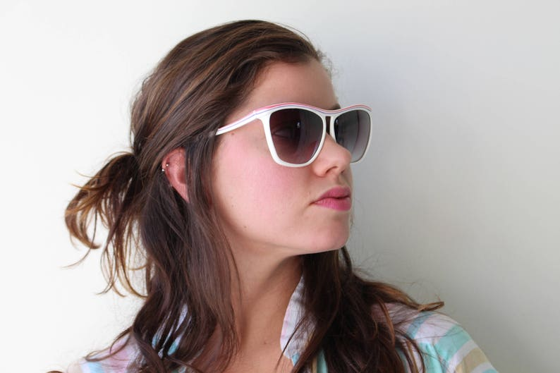 Vintage PINK Mod Taiwan ROC 1970s 1980s Sunglasses.retro. colorful shades. urban. hipster. nerd. shades. indie. chic. pink. boho. deadstock.