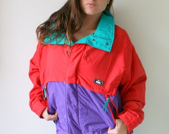 1970s RAD Hipster Jacket...colorful. bright. retro. unisex. striped. rainbow. 1980s. 1970s. rad. fun. mens. womens. sports. members only YLllK