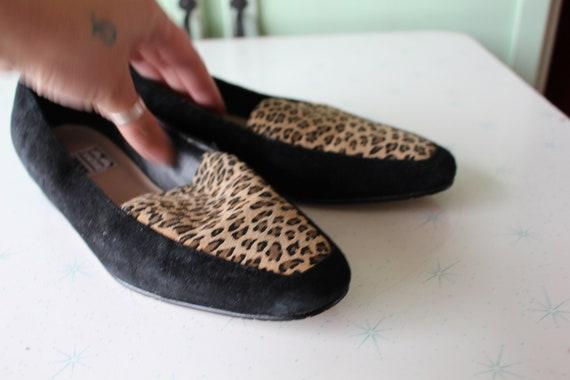 1990s Vintage LEOPARD Leather Oxfords....jungle. … - image 4