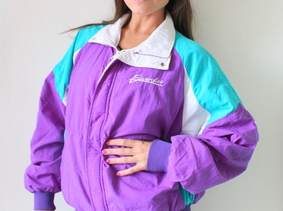 1980s RAINBOW Jacket...colorful. bright. retro. pu