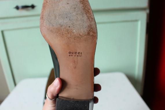 90s Vintage GUCCI Designer Loafer Heels..size 7 w… - image 5