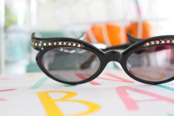 1950s 1960s Costume Cat Eye Sunglasses...vintage.