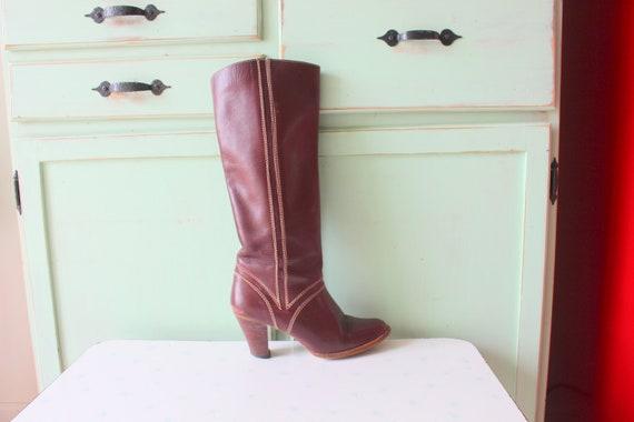 1980s Vintage Designer Heeled Boots....size 8 wome