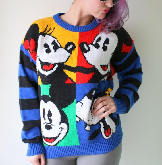 Vintage MICKEY MOUSE Sweater...walt disney. minnie