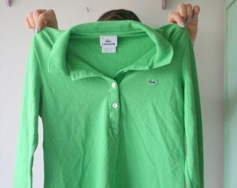 Vintage LACOSTE Izod Pink Collared Shirt...preppy. designer. 70s. winter fashion. designer. rare vintage. alligator. gator. mens. womens eeF94O