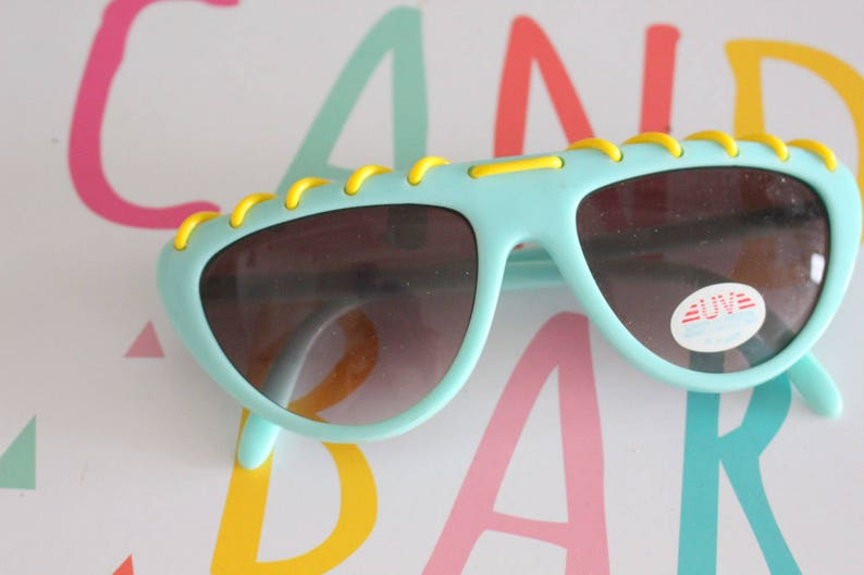 TEAL New Old Stock Mod Sunglasses. aviator. mint. green. image 0