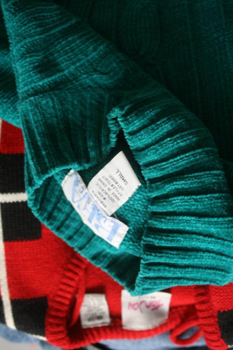 hippie boho spring retro folk free mod blue urban crop Vintage TEAL Blue Boho Slouchy Crop Sweater....turtle neck knit urban