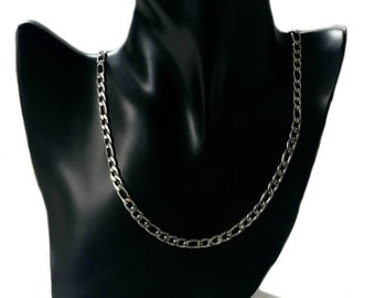 Chain Necklace Stainless Steel lead-free Nickel-free Solid un-plated Figaro