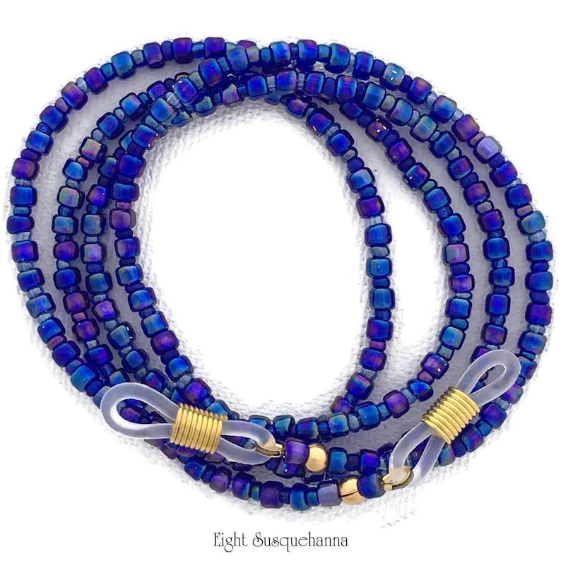 Blue Iris Eyeglass Chain 29 inch GL1706 image 0