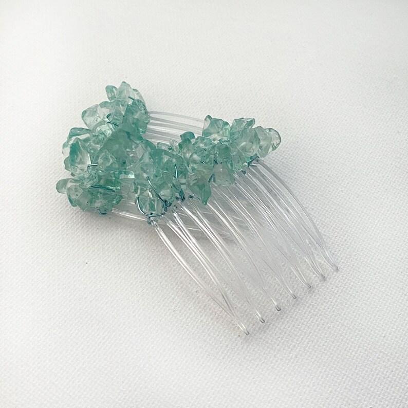 Aqua Sea Green Mini-Comb Pair CO309 image 0